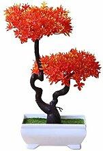 Künstlich Bonsai Baum mit Topf, Simulation