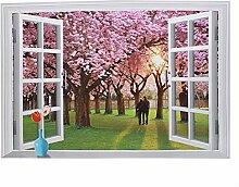 künstlich Fensterblick Entfernbar Kunst Wandgemälde Wandtattoo DIY Wandpapier