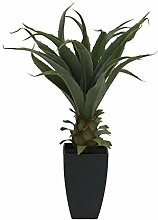 Künstliche Agave TULIO im Dekotopf, 75 cm - Kunst Sukkulente / Deko Pflanze - artplants