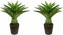 Künstliche Aloe-Vera-Pflanze - 80cm - für den Innenbereich und für den Außenbereich: Büro, Wintergarten, tropischer Garten - von Best-Artificial