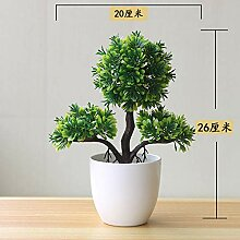 Künstliche baum anlage vergossen gras ball bonsai