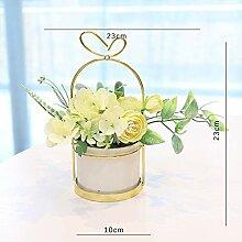 Künstliche Blume Topfpflanze Blumen Gras Bonsai,