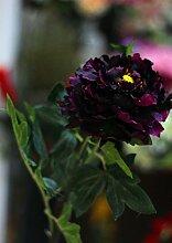 Künstliche Blumen Die Päonie Blumen Hohe Simulation Von Einem Kopf Heimtextilien Big Shop Dekoration Blumen Hochzeit Dekoration Blumen, Lila-A
