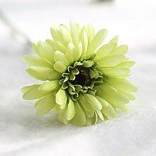 Künstliche Blumen Die Simulation Von Gerbera Daisies Heimtextilien Sun Flower Zimmer Tischdekoration Blumen, Seidenblumen, Grün