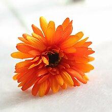 Künstliche Blumen Die Simulation Von Gerbera Daisies Heimtextilien Sun Flower Zimmer Tischdekoration Blumen, Seidenblumen, Orange