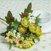Künstliche Blumen Die Simulation Von N Blumen Getrocknete Blumen Magnolia Heimtextilien Schmuck Alle-Match Schmuck Kreative Lebende Blumen , Gelb