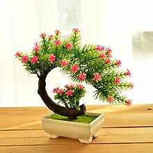 Künstliche Blumen Heimtextilien simulation Blume grün Pflanzen Blumen bonsai Pot set Dekoration Tisch Wein Zubehör, Pinus Changqing Rosa