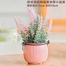 Künstliche Blumen Keramik Vasen Bonsai Pflanze Rosa Lavendel Home Dekorationen für Wedding Bouquet Geburtstag Bündel Hotel Party Garten Blumen die Einrichtung des Mutter Day-Dreamingces