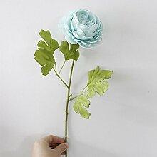 künstliche Blumen künstliche Pflanzen Hochzeitsdekoration Partydekoration Päonienblüten 10pcs , light blue