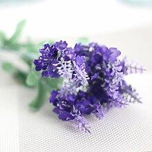 Künstliche Blumen Kunstblumen Lavendel Seidig?Blumenstrauss Seidenblumen Dekorative Blumen Tieflila, #1