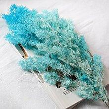 Künstliche Blumen Reed Zubehör Blumenarrangements Diy-Shooting Requisiten Wohnzimmer Tisch Schreibtisch Dekorative Blumen Getrocknet, See Blau Einzige Zweigstelle