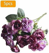 Künstliche Blumen Rosenstrauß Kunstblumen Seide