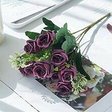 Künstliche Blumen Seidenrosen Hochzeit Dekoration