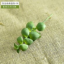 Künstliche Blumen Simulation Vollblume Pflanze Kombination Topf Hand Diy Mikro-Landschaft Garten Blumentöpfe Grün Pflanze Zubehör, S