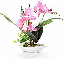 Künstliche Bonsai-Orchidee im Topf rose