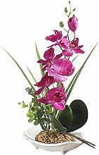 Künstliche Bonsai-Orchidee im Topf viole