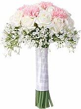 Künstliche Brautstrauß, Seide Rosen Blumen