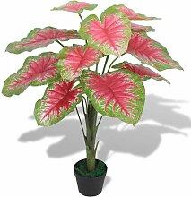 Künstliche Caladium-Pflanze mit Topf 70 cm Grün