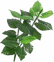 Künstliche Caladiumpflanze, 3-stämmig, auf Steckstab, 90 cm - Künstliche Grüne Pflanze / Deko Pflanze - artplants