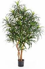 Künstliche Dracaena Anita, 780 Blätter, grün, 120 cm - Kunstbaum / Kunstpalme / Künstliche Pflanze - artplants