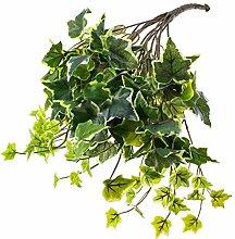 Künstliche Efeu Ranke mit 145 Blättern, grün-weiß, 45 cm - Kunstpflanze Efeu / Künstlicher Efeubusch - artplants
