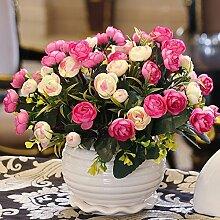 Künstliche Fake Blumen Dekoration Esstisch Home Zubehör Blumen Silk Flower Kit Pink -Ktfactory