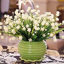 Künstliche Fake Blumen Dekoration Esstisch Home Zubehör Blumen Silk Flower Kit Weiß -Ktfactory
