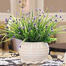 Künstliche Fake Blumen Dekoration Esstisch Home Zubehör Blumen Silk Flower Kit Grün -Ktfactory