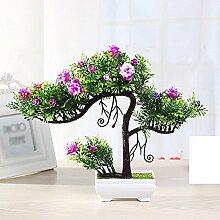 Künstliche Fake Blumen Dekoration Esstisch Home Zubehör Kunststoff Jasmin Rot -Ktfactory