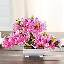 Künstliche Fake Blumen Dekoration Esstisch Home Zubehör Kunststoff Pine Tree Rosa -Ktfactory