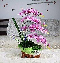 Künstliche Fake Blumen Dekoration Esstisch Home Zubehör Orchidee weiß -Ktfactory