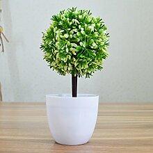 Künstliche Fake Blumen Dekoration Esstisch Home Zubehör Pflanze grün -Ktfactory