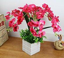 Künstliche Fake Blumen Dekoration Esstisch Home Zubehör Pink Orchid -Ktfactory