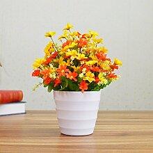 Künstliche Fake Blumen Dekoration Esstisch Home Zubehör Plastik Kit Great Basin Orange -Ktfactory