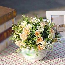 Künstliche Fake Blumen Dekoration Esstisch Home Zubehör Rose Öl Malerei. Kit Pink -Ktfactory