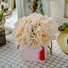 Künstliche Fake Blumen Dekoration Esstisch Home Zubehör silk Blume Blumen aus Plastik Kit Pink -Ktfactory