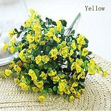Künstliche Fake Seide Gypsophila Baby'S Breath Blume Pflanze Home Hochzeit Dekor, Gelb