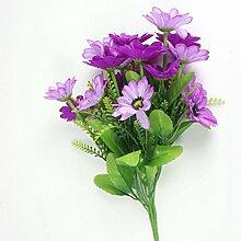 Künstliche Gänseblümchen 20 Köpfe Blumen-Bouquet Pflanze Hause Hochzeit Dekor - Lila