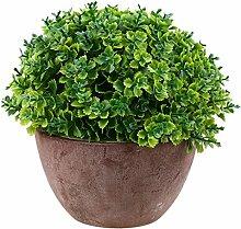 Künstliche Glück Gras Pflanze Kunstbonsai Garten Hause Dekoration - Grün