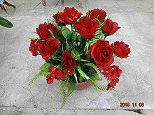 künstliche Grabgesteck Rosen/Hortensien ro