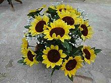 künstliche Grabgesteck Sonnenblumen