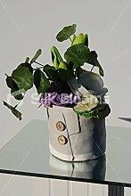 Künstliche Grün Tulip & Anemone Vase Keramik Knopf, Display