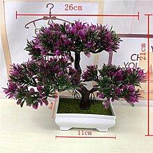 Künstliche Grüne Pflanzen Bonsai Simulation