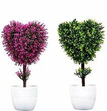 Künstliche Herzförmige Pflanze Friedlicher Baum