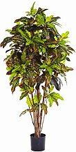 Künstliche Kroton Pflanze BEQA, 336 Blätter, grün-rot-gelb, schwer entflammbar, 150 cm - Künstliche Pflanze / Deko Baum - artplants