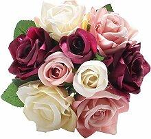 Künstliche künstliche Rosen aus Seide,