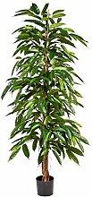 Künstliche Longifolia Pflanze NORI, 450 Blätter, grün, 180 cm - Künstliche Zimmerpflanze / Longifolia künstlich - artplants