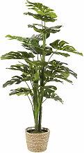 Künstliche Monstera-Pflanze im Topf