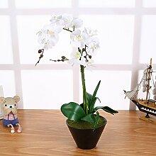 Künstliche Orchideen im Topf Weiß mit 3 Rispen