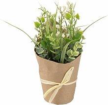 Künstliche Orchideen und Bonsai im Topf aus